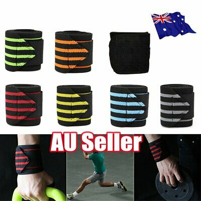 Wrist Wraps Straps Weightlifting Gym Training Wrist Support Straps Elastic BK