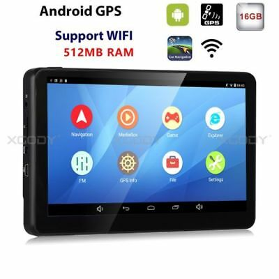 XGODY 7'' GPS Navigation 16GB Touchscreen Android 4.4 system Free 3D maps Update