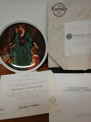 Norman Rockwell Collector Plate Knowles 1984 GRANDMAS COURTING DRESS Mothers Day