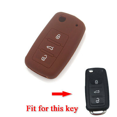 Silicone Key Shell Cover Holder Case For VW Jetta Golf CC GTI Remote Protector