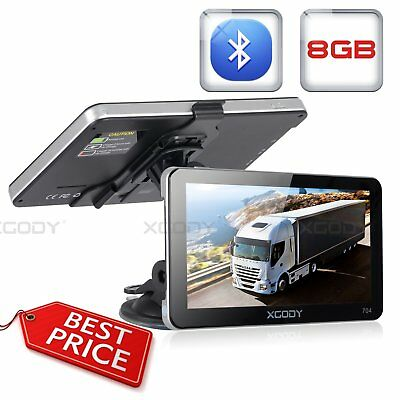 XGODY 704 7 in Truck Car Sat GPS Navigation System 8GB Bluetooth + Sunshield USB