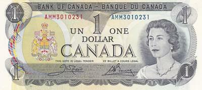 Lot of 10 1973 Bank of Canada $1 Bill Crow Bouey AMM 310231 - 310231