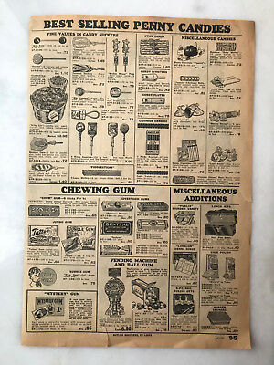1930's Catalog Page Advertising Non-Sport Cards Mystery Gum Jungle Tattoo Candy