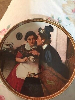 Gossiping In The Alcove by Norman Rockwell Rediscovered Women Collector Plate