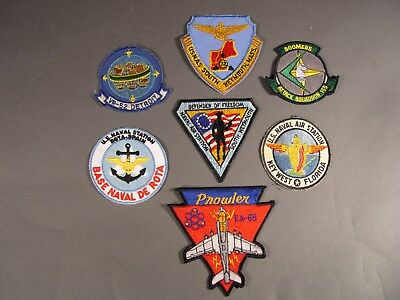 Modern U.S. Navy Aviation Squadron & Base  Patches, Lot of 7