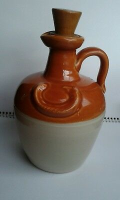 Collectible-Donald Fisher Ye Monk's Whiskey Jug with Original Wood Cork-NICE...
