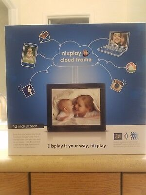 Nixplay WiFi Cloud Frame 12 Inch W12A DISPLAY IT YOUR WAY !   Original Packaging