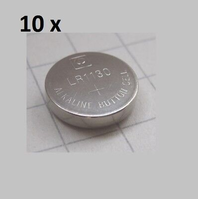 10 x AG10 / LR54 / 189 / 387 / 389 LR1130 1.5V Button Cell Alkaline Batteries