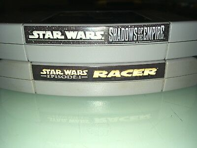 Nintendo N64 Game Lot Star Wars Shadow Of the Empire and Racer