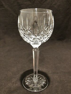 "Waterford Crystal Lismore Wine Hock Glass 7 3/8"" H Sold Individually"