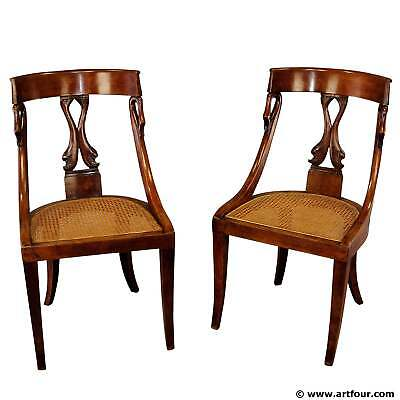 pair of hand-crafted biedermeier chairs