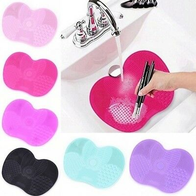 Makeup Brush Cleaner Mat Silicone Cosmetic Make Up Brushes Cleaning Pad Tools