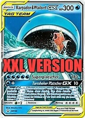 Karpador & Wailord GX TAG TEAM SM166 Promo (XXL Version)