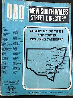 ubd new south wales street directory - 3rd edition - vintage