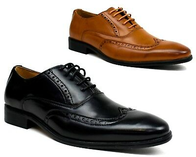 Mens New CLASSIC BROGUES - Formal Smart Lace Up Suit Shoes UK Sizes 6-12