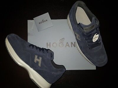 Hogan Sneakers Interactive,  Blue Suede Leather, Size EU43.5,  UK9.5, US10.5