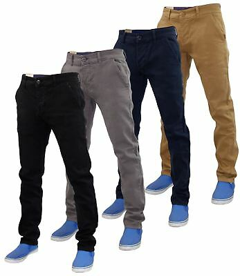 Mens Slim Fit Jeans Stretch Cotton Chino Twill Trousers Denim Pants Size 30 - 38