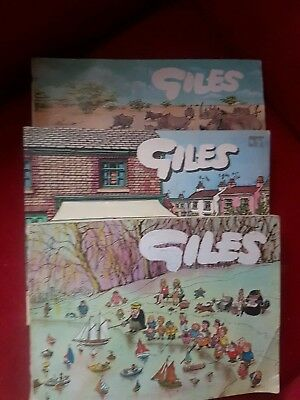 SELECTION OF OLD GILES ANNUALS19th 22nd and 28th SERIES