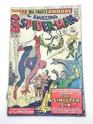 The Amazing Spider-Man Annual #1 1964 First Appearance of the Sinister six