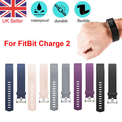 Replacement For FitBit Charge 2 Watch Strap Wrist Band Classic Mental Buckle UK