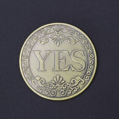 Floral YES NO Letter Commemorative Coin Arts Collection Souvenir Gifts Ornaments