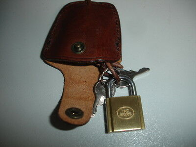 The Bridge Leather Key Keeper & Lock & Keys New
