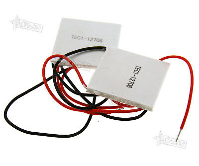 2/4X TEC1-12706 Heatsink Thermoelectric Cooler Cooling Peltier Plate 12V 60W