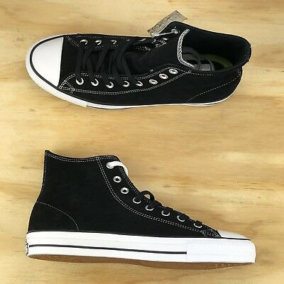 ce9ba3782e7c Converse Chuck Taylor All Star Pro Black White Suede High Top Shoes 144587C  Size