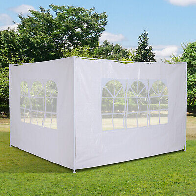 Outsunny 3m Canopy Gazebo Marquee Replacement Side Wall Panel  White