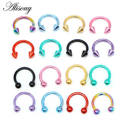 316L ROSE GOLD Horseshoe Bar - Lip Nose Septum Ear Ring Various Sizes available