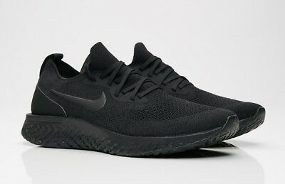 1d8d3d66fe59c Nike Epic React Flyknit Women s Running Shoes Size US 10.5 Black BRAND NEW