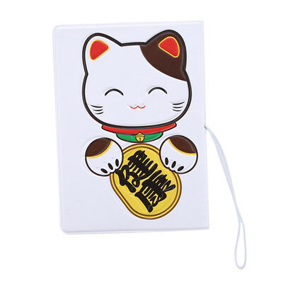 Cute Cat Printed Credit Card Holder Travel Portable Business Passport Cover N7