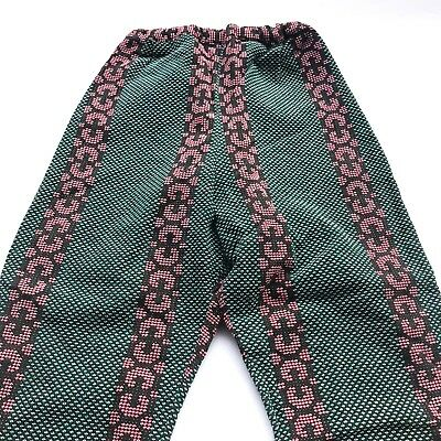 VTG Kids 70s French Retro Snakeskin Green Pink Black On Trend Trousers 4 5 6 Y