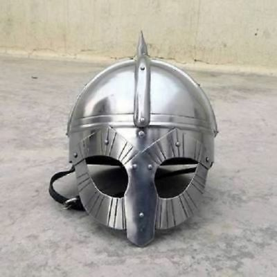 Medieval Viking Mask Deluxe Helmet With Liner amp ChinStrap For Armours