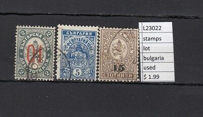 Stamps Lot Bulgaria    Used  (L23022)