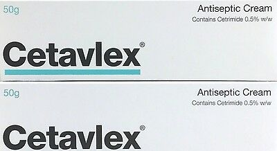 2x Cetavlex antiseptic cream 50g Minor Wounds, Burns, Nappy Rash Abrasions