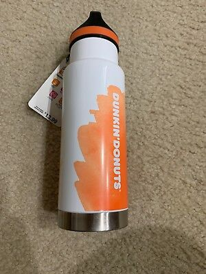 Brand New Dunkin Donuts 18Oz Stainless insulated Hydration Bottle 2018