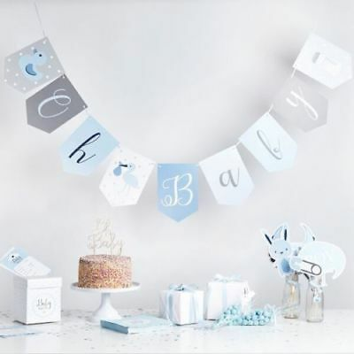 Oh Baby Blue Baby Shower Party Tableware Props Mum To Be Baby Boy