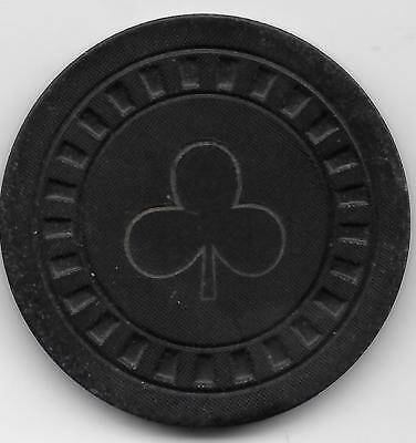 Old $1 Illegal Casino Chip From CUBAN CLUB (3 Leaf Clover)-Closed