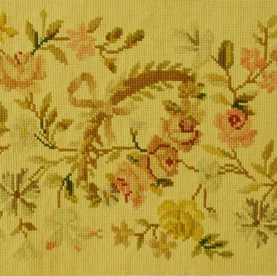Exquisitely Pretty Antique French Tapestry / Needlepoint Border / Pelmet, Roses