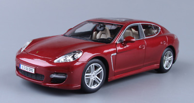 0b755f408b8e 1-18 Scale - Maisto Porsche Panamera Turbo Alloy Diecast Model Car (Red)