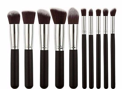NEW 10 Pcs Makeup Set Pro Kit Brushes makeup cosmetics brush Tools black HZ34