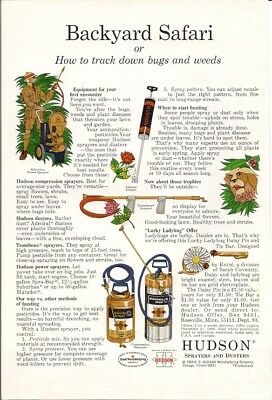 1969 Vintage Ad Hudson Sprayers and Dusters Backyard Safari How to Track Bugs
