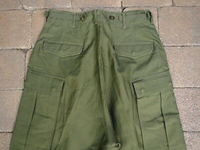 Vtg Old Stock Korean War M1951 Field Pants Olive Green Small Long
