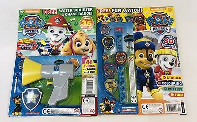 PAW PATROL Magazine X2 Gift Issues With FREE GIFTS! (NEW)