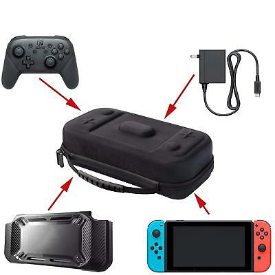 Extra Large Nintendo Switch Travel Case Fit Pro Controller AC Adapter Pokeball+