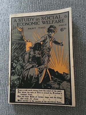 "Vintage book ""A Study in Social & Economic Welfare""."
