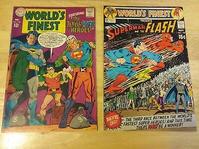 WORLDS FINEST COMICS LOT OF 2 #173 VG+ #198 VG- Special Issues (DEAL)