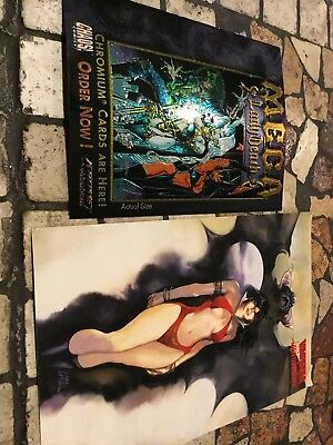 Lady Death Mega And Vampire Topps Master Visions Chromium Card Promo Card