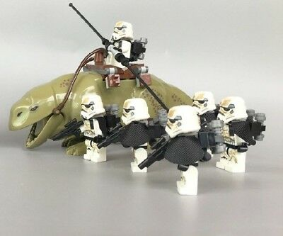 STAR WARS Figure Dewback  und 6 Sandtrooper Minifiguren Dewback Sandtrooper